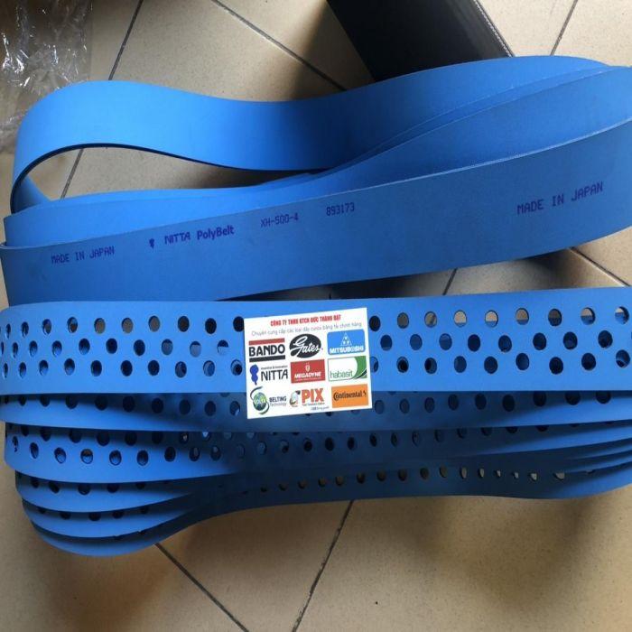 dây đai dẹt nitta đục lỗ XH500