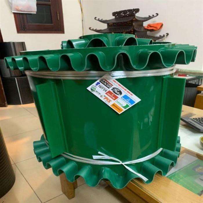 băng tải gầu bèo PVC